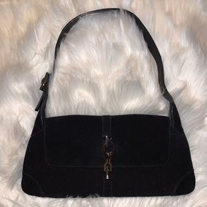 Gucci Black Suede Jackie Bag